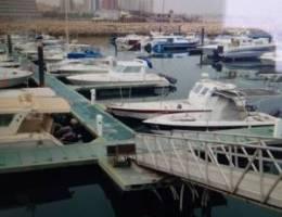 للبيع مرسي بحري ٢٧ قدم الفحيحيل مع طراد