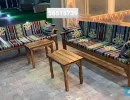 للبيع جميع انواع الكراسي الحدائق خشب وخي